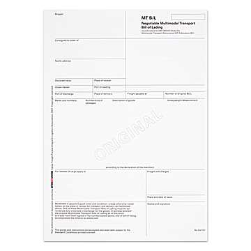 SPEDLOGSWISS MT / Bill of Lading Original